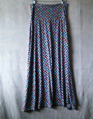 6f5072ee7 LuLaRoe Maxi Skirt Women's Medium Lattice Print Multi Color Wide Waistband  #947