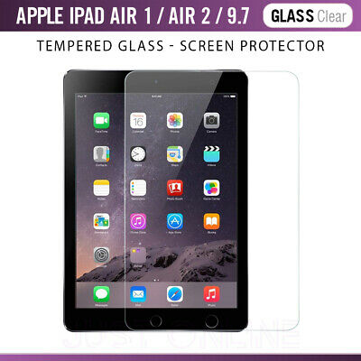 Genuine Premium Tempered Glass Film Screen Protector For Apple iPad Air / Air2
