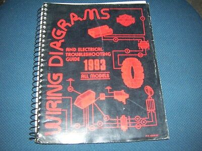 harley davidson 1993 wiring diagrams & electrical troubleshooting guide  99948-93
