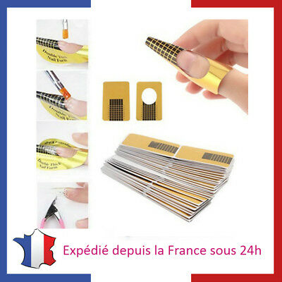 Lot de Chablons pour Extensions d'Ongles en Gel Nail Art Gel UV Manucure
