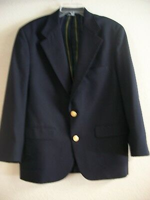 Nautica  Mens Captain Navy Wool Two Button Suit Jacket Blazer