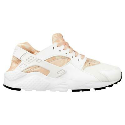 Juniors NIKE HUARACHE RUN PRINT GS White Trainers 704946 100