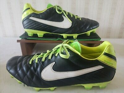 0e1d8f92d Nike Tiempo Mystic IV FG 454309-013 Black/Yellow/Green Soccer Cleats Men
