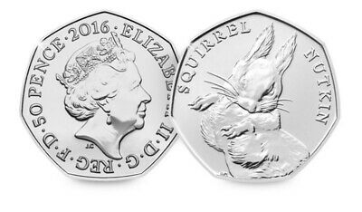Squirrel Nutkin 50p fifty pence coin - UNCIRCULATED