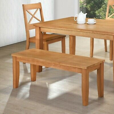 Perth Dining Bench - Solid Wood - 120cm Wide - Free UK Delivery - Oak Colour