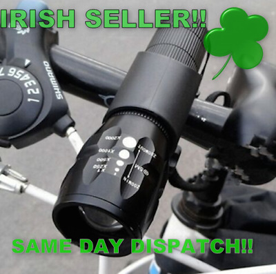 LED Front Cycling Bike Bicycle Lights WITH BATTERIES (IRISH SELLER IRISH STOCK!)