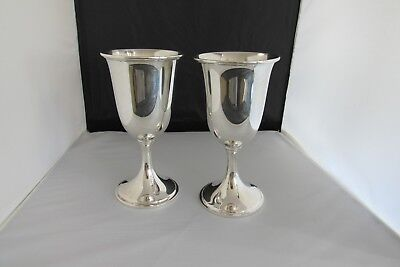 Sterling Silver Wedding Goblets by S.Kirk & Son  #72 No monogram   .set #2
