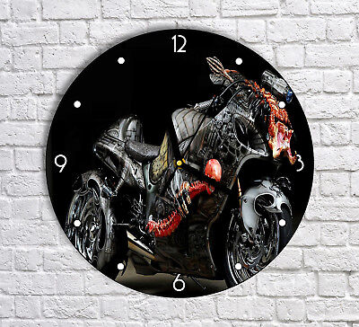 Beautiful Bike Artwork - Round Wall Clock For Home Office Decor