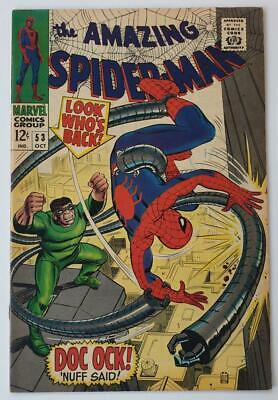 Vintage 1967 Marvel Comic 'amazing Spider-Man' #53 (Vf) - Uk 1/- Cover Stamp