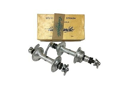NIB Campagnolo record low flange hubs 24 holes NOS in box 126mm
