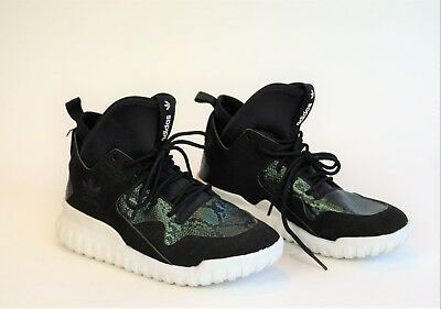 356cccad2 Adidas Big Kids Grade School TUBULAR X K Sneakers Shoes Black Green S78718  6.5