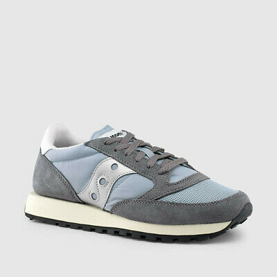 Saucony Jazz Original Womens Grey and Black Suede Mesh Trainers UK Size3-8