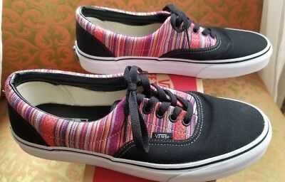 84232f18f2 VANS ERA GUATE WEAVE SHOE BLACK   MULTI MEN S 9 Women s 10.5 RASTA STRIPED