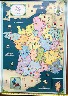 Map Of France Poster.Map Of France Poster Print Republique Francaise In French