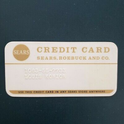 Vintage Sears Roebuck and Co Credit Card Charge Card 70s