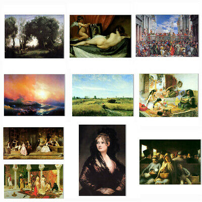 Classical Fashion Canvas Oil Painting Print Poster Art Room Home Wall Decoration