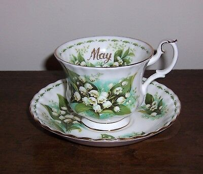 May LILY OF THE VALLEY Cup & Saucer - Royal Albert Bone China - England 1970