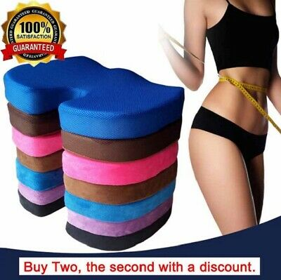 Memory Foam Seat Cushion Back Lumbar Back Lumbar Tail Bone Coccyx Pain Relief