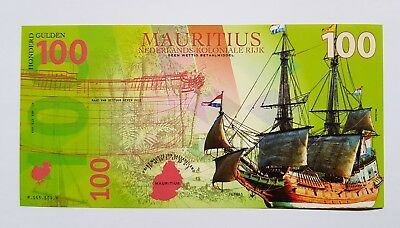 Niederlande Mauritius, 100 Gulden, 2016, Private Issue POLYMER, UNC