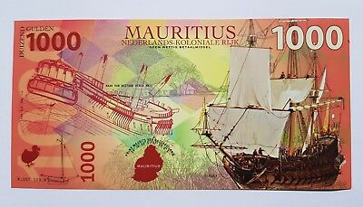 Niederlande Mauritius, 1000 Gulden, 2016, Private Issue POLYMER, UNC