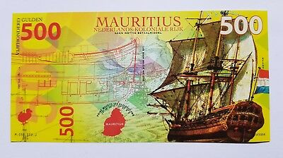 Niederlande Mauritius, 500 Gulden, 2016, Private Issue POLYMER, UNC