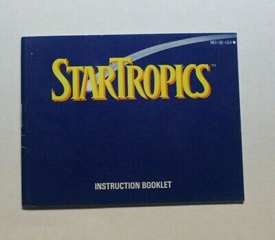 NINTENDO NES Manual STAR TROPICS Letter Attached Instruction booklet NES HQ