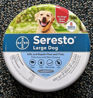 Seresto Flea & Tick Collar for Large Dogs 18 lbs up, Authentic Includes Rebate