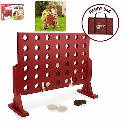 Giant Garden Games 4 In A Row Kids Adults Classic Connect Wooden Outdoor Picnic