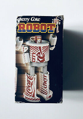 Official Cherry Coke Robot Tranformers Very Rare Vintage Toy Original Box