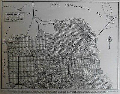 Nice Vintage 1943 World War WWII Atlas City Map San Francisco California CA L@@K