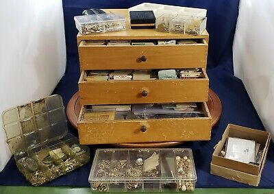 Watch Repair Lot Vintage Dovetailed Case Tools 200+ Crystals Other Parts