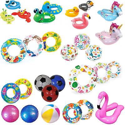 Inflatable Boys Girls Kids Swim Rings Swimming Pool Water Floats Beach Ring Toy