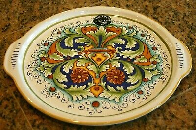 New Ceramica Nova Deruta Large Platter/tray Handmade In Italy 13.25 Inches