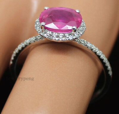 NEW STUNNING 5CT CABOCHON CUT PINK SCAPOLITE DIAMOND RING 14KT SOLID GOLD