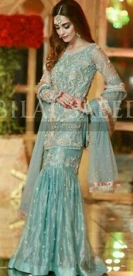 New Pakistani  Indian designers bridal wear heavy embroidered salwar kameez