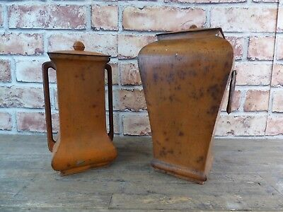 Pair Of Antique Victory V Lozenger Sweet Tins In The Form Of Urns.