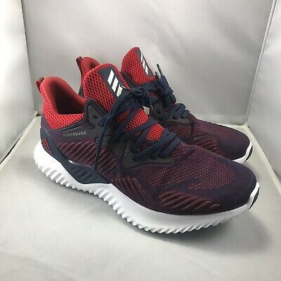79ba80e06e91 adidas alphabounce beyond NCAA F36828 Navy/Red Running Shoes Mens Size 11.5