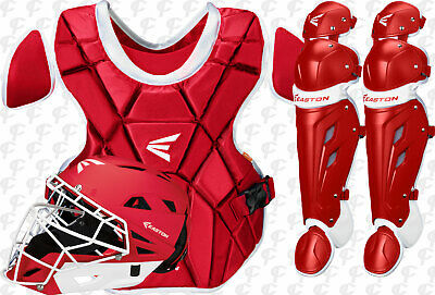 Easton Mako-M7 Softball Fastpitch Catchers 3 pc. Set-Kit Intermediate Red
