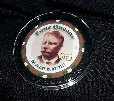 Theodore Roosevelt  casino chip Four Queens Las Vegas United States Medal Mint