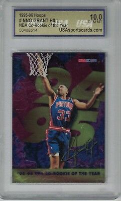 Grant Hill 1994 95 Nba Hoops Co Rookie Of The Year Rare Insert Rc