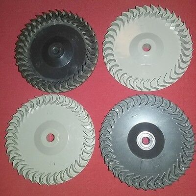 4 Small Fan Blades Steampunk Altered Art Mixed Media Industrial Machine Age Collage Supplies