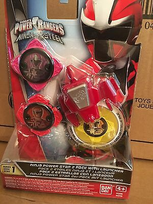 Power Rangers Ninja Steel Series 1-Ninja Power Star Pack 2 avec Lanceur