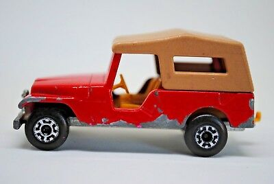 Matchbox SuperFast No: 53 JEEP CJ6 Car with Towing Hook Made 1977 in England