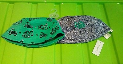 New Baby Boys Debenhams Bluezoo Two Pack of Sunhats Age 12/24 Months