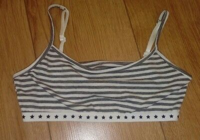 New Marks and Spencer Girls Grey/White Crop Top Age 11/12 Years