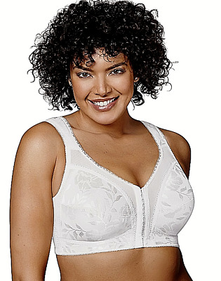 New Bra, Playtex 18-hour WF Padded-Straps Front-close White 4695 MSRP-$36.00 38B