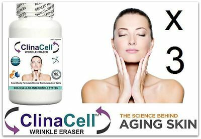 3 Wrinkle Eraser Pills Wrinkles Fine Lines Clear SkinTone Anti Ageing Complexion