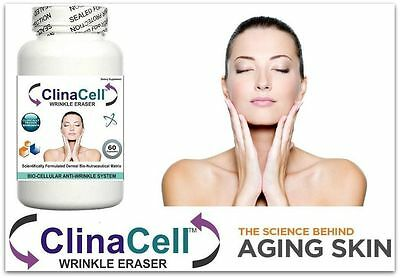 Clinacell Wrinkle Eraser Pills Wrinkles Fine Lines Clear Skin Anti Ageing