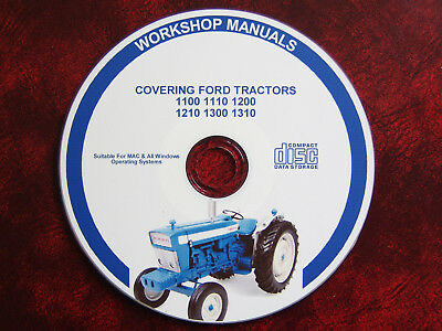 Ford 1100 1110 1200 1210 1300 1310 Tractor Workshop Service Repair Manual