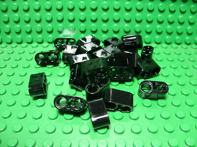 ** 25 CT LOT **  Lego NEW black 1 x 3 technic 3L axle//pin connector pieces
